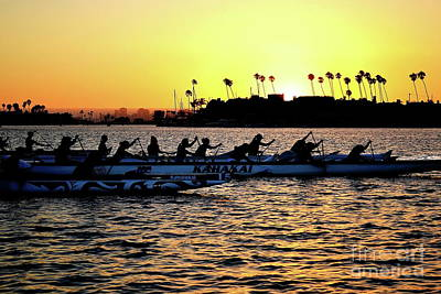 Photograph - Rowing At Sunset by Jenny Simon Photography