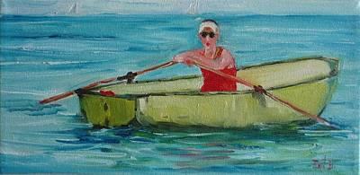 Rowing Away Art Print by Irit Bourla