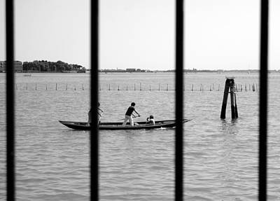 Photograph - Rowing Behind Bars by Valentino Visentini