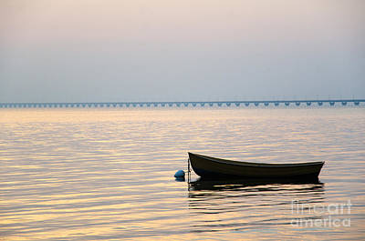 Photograph - Rowing Boat At Sunset by Kennerth and Birgitta Kullman