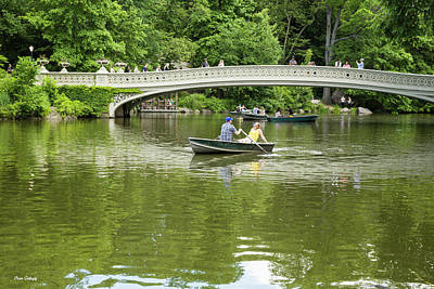Photograph - Rowing By The Bow Bridge by Fran Gallogly