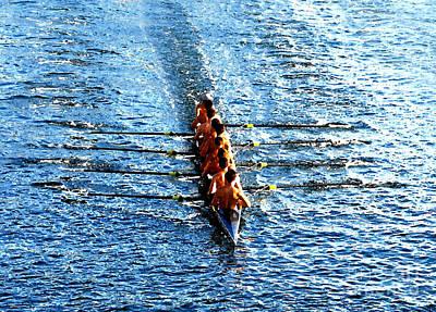 Rowing In Art Print by David Lee Thompson