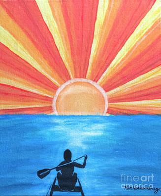 Rowing Into The Sunrise Original by Kimberly Vandenberg