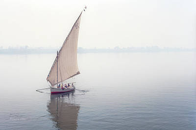 Photograph - rowing on the Nile.... by Paul Vitko