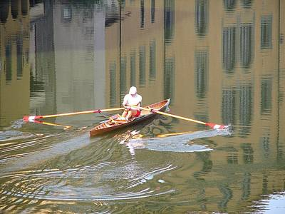 Photograph - Rowing On The River Arno by Diane Height