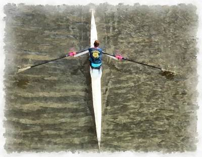 Photograph - Rowing On The River by Ashish Agarwal