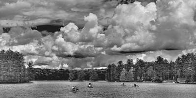 Boy Scouts Photograph - Rowing On White Lake 2 by David Patterson
