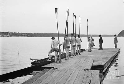 Photograph - Rowing Team, 1911.  by Granger