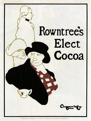 Mixed Media - Rowntree's Elect Cocoa - Chocolate - Vintage Advertising Poster by Studio Grafiikka