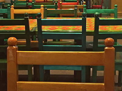 Photograph - Rows Of Chairs by Denise Mazzocco