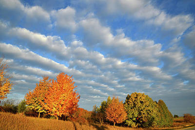 Photograph - Rows Of Fall Clouds Over Glacial Park by Ray Mathis