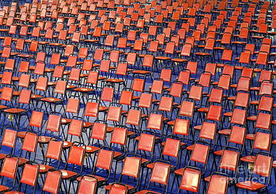 Photograph - Rows Of Red Chairs by Yali Shi