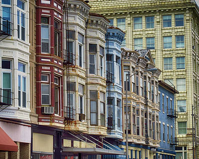Photograph - Row Of Row Houses In Quincy by Brian Brandt