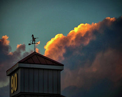 Photograph - Roxana Fire Company Weather Vane by Bill Swartwout
