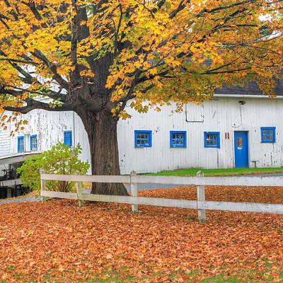Old Farm Photograph - Roxbury Connecticut Barn Square by Bill Wakeley