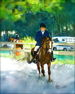 Painting - Roxy And Prissy by Cheryl Dodd