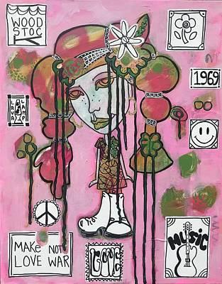 Mixed Media - Roxy At Woodstock by Dalene Woodward