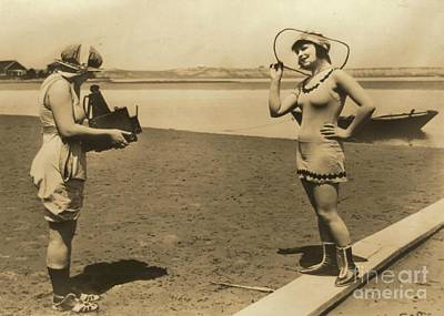 1918 Photograph - Roxy Mcgowan And Mary Thurman In Bathing Suits by Padre Art