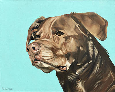 Brown Dog Painting - Roxy by Nathan Rhoads