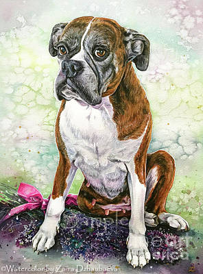 Painting - Roxy by Zaira Dzhaubaeva