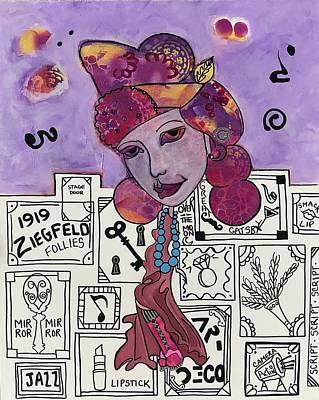 Mixed Media - Roxy...folies Bergere by Dalene Woodward