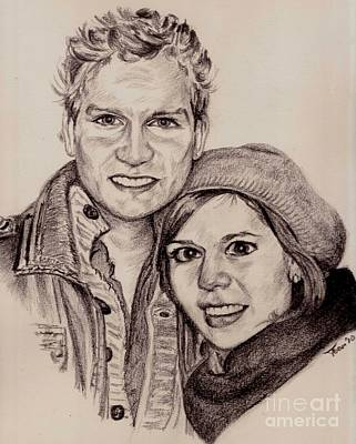 Drawing - Roy And Eveline by Toon De Zwart