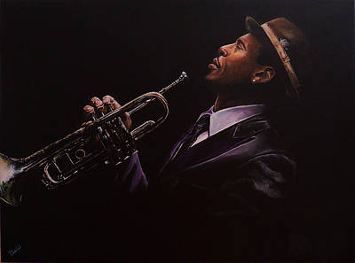 Painting - Roy Hargrove by Pascal Martos