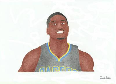 Drawing - Roy Hibbert  by Toni Jaso