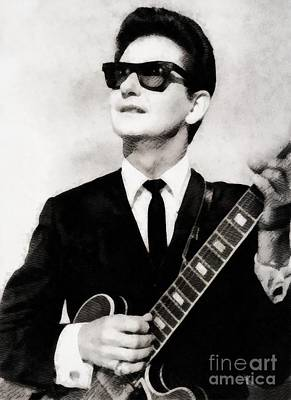 Musicians Paintings - Roy Orbison, Legend by John Springfield