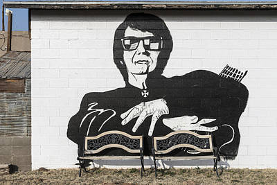 Roy Orbison Mural In Wink Print by Carol M Highsmith