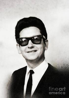 Musicians Royalty-Free and Rights-Managed Images - Roy Orbison, Music Legend by John Springfield