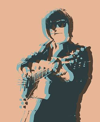Tom Petty Mixed Media - Roy Orbison Pop by Dan Sproul