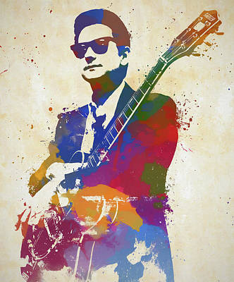 Painting - Roy Orbison Watercolor by Dan Sproul