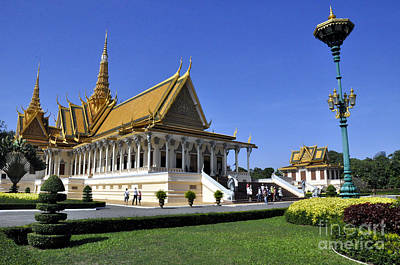 Photograph - Roy Palace Cambodia 01 by Andrew Dinh