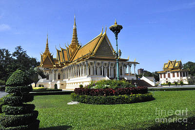 Photograph - Roy Palace Cambodia 03 by Andrew Dinh