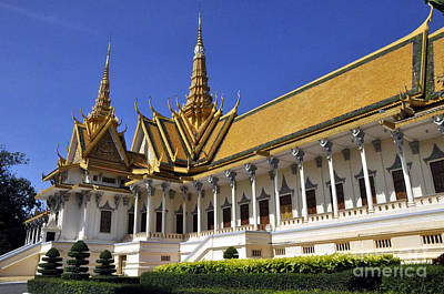 Photograph - Roy Palace Cambodia 04 by Andrew Dinh