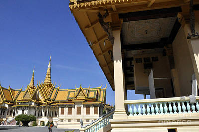 Photograph - Roy Palace Cambodia 11 by Andrew Dinh