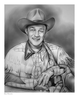 Palomino Drawing - Roy Rogers by Greg Joens