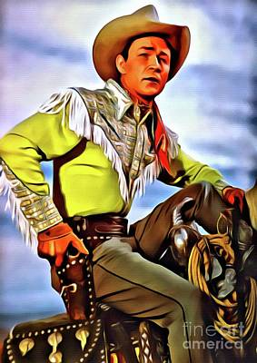 Musicians Digital Art Rights Managed Images - Roy Rogers, Hollywood Legend Royalty-Free Image by Esoterica Art Agency