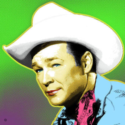 Painting - Roy Rogers Portrait by Gary Grayson