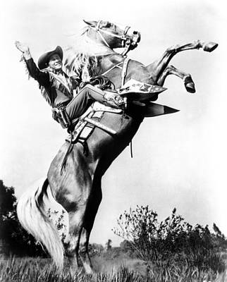 Ev-in Photograph - Roy Rogers Riding Trigger, Ca. 1940s by Everett