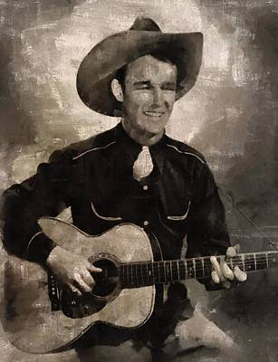 Roy Rogers, Western Star And Singer Art Print by Mary Bassett