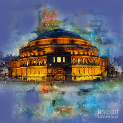 City Scape Painting - Royal Albert Hall by Gull G