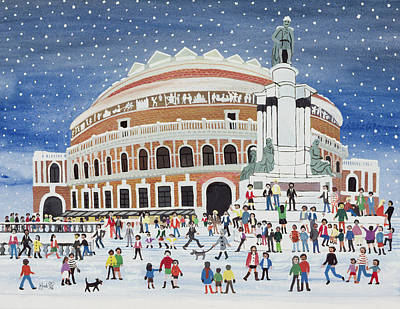 Royal Painting - Royal Albert Hall by Judy Joel