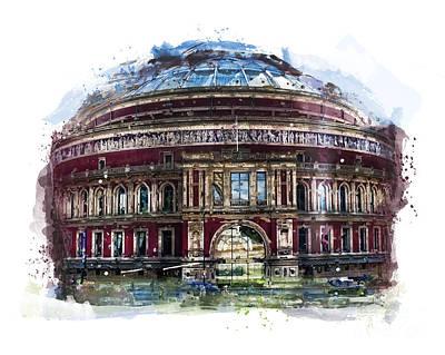 London Eye Painting - Royal Albert Hall - London by Justyna JBJart