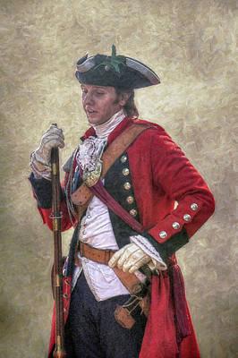 Royal Americans Officer Portrait  Art Print by Randy Steele