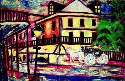 Horse And Buggy Painting - Royal And Orleans by Ted Hebbler