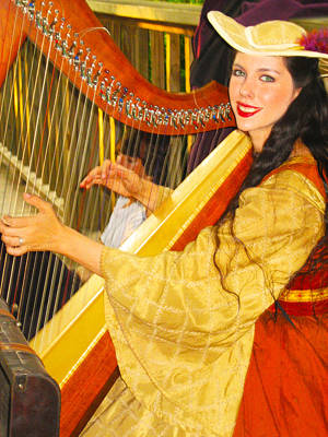 Ladies In Waiting Photograph - Royal Angelic Harpist  by ARTography by Pamela Smale Williams