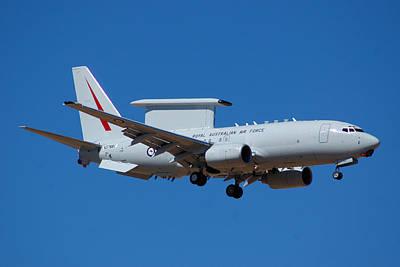 Royal Australian Air Force Boeing 737 Wedgetail N378bc Art Print by Brian Lockett