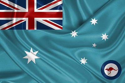 Digital Art - Royal Australian Air Force -  R A A F  Ensign by Serge Averbukh